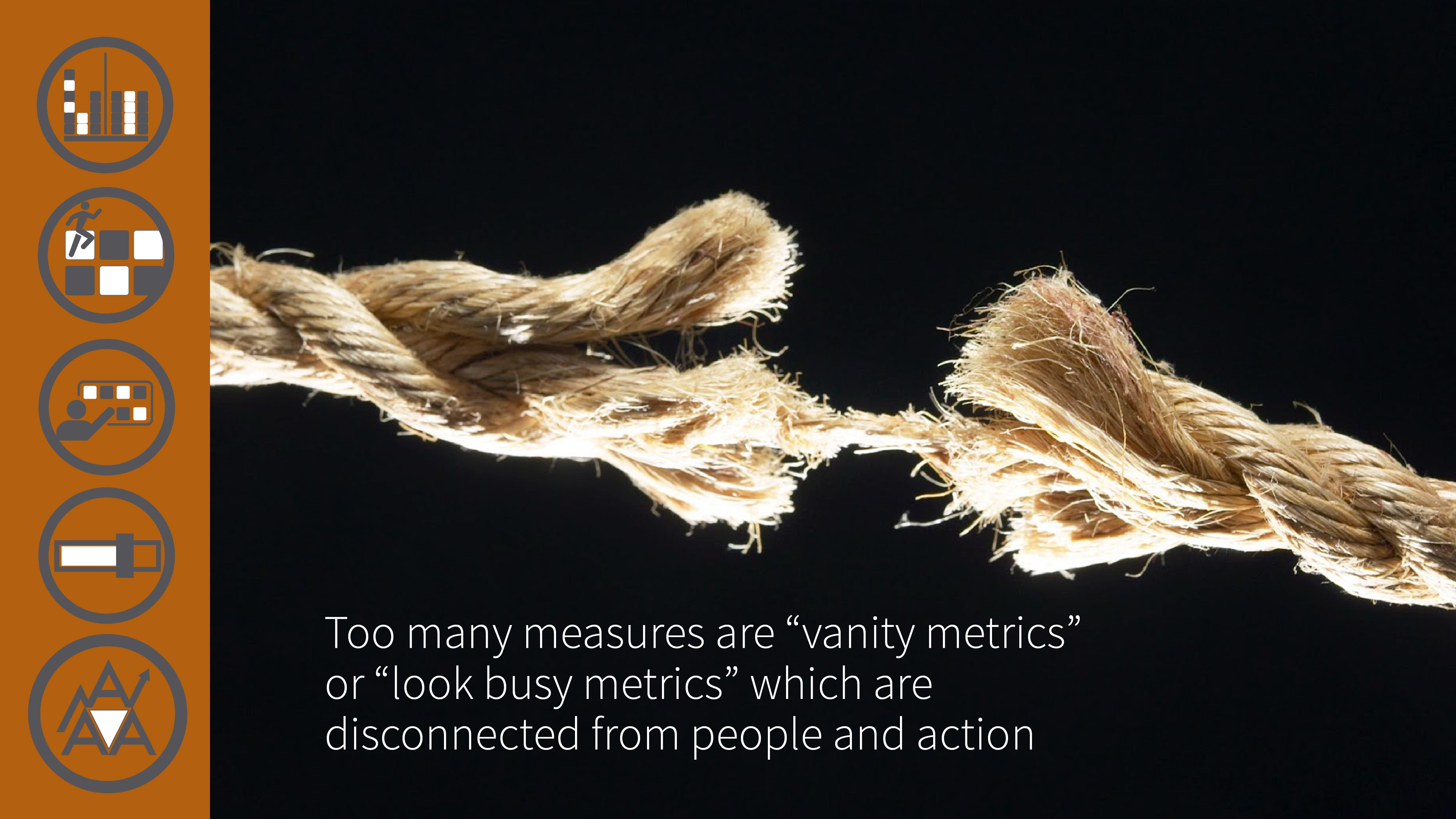 17 Disconnected metrics achieve nothing