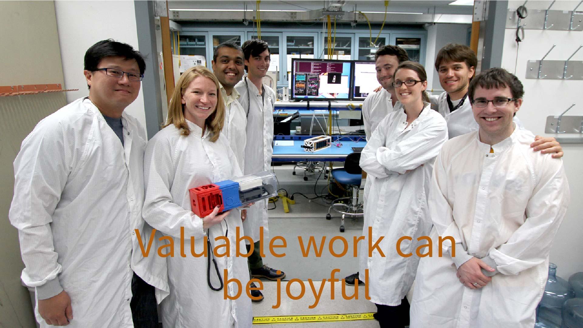 19 Valuable work can be joyful